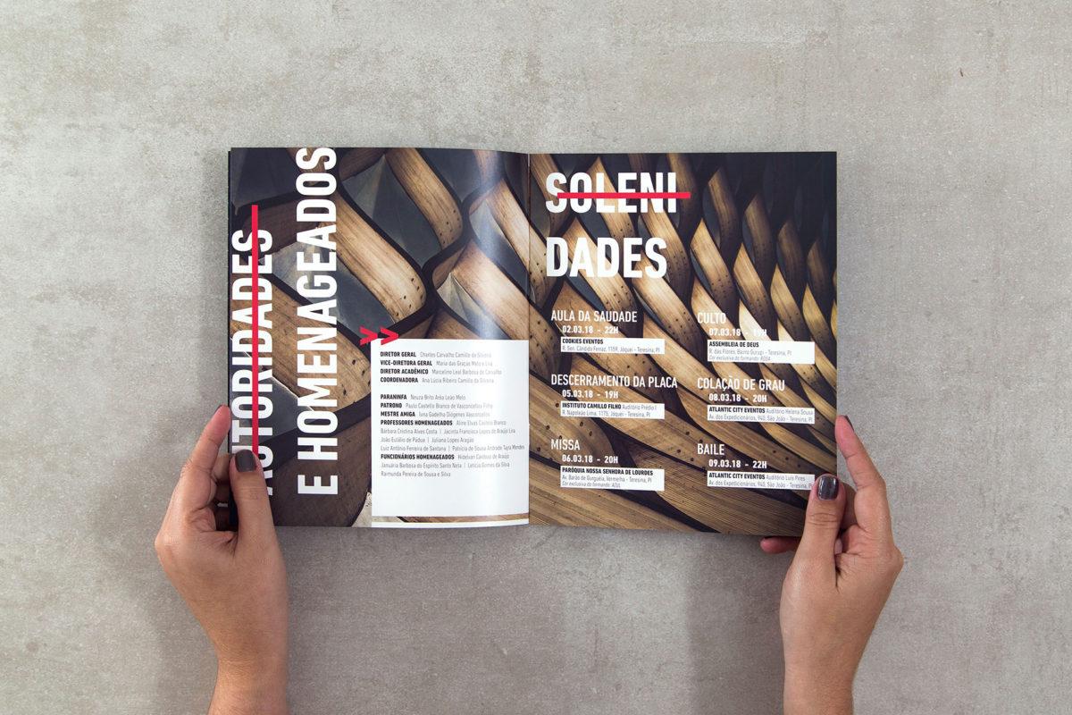 Convite de formatura criativo para turma de Arquitetura Camilo Filho