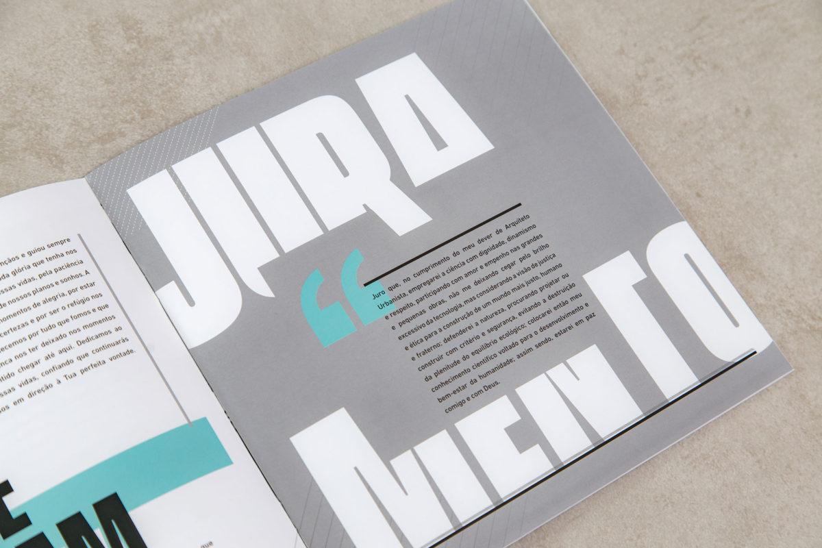 Convite de formatura criativo para turma de Arquitetura UNIBH