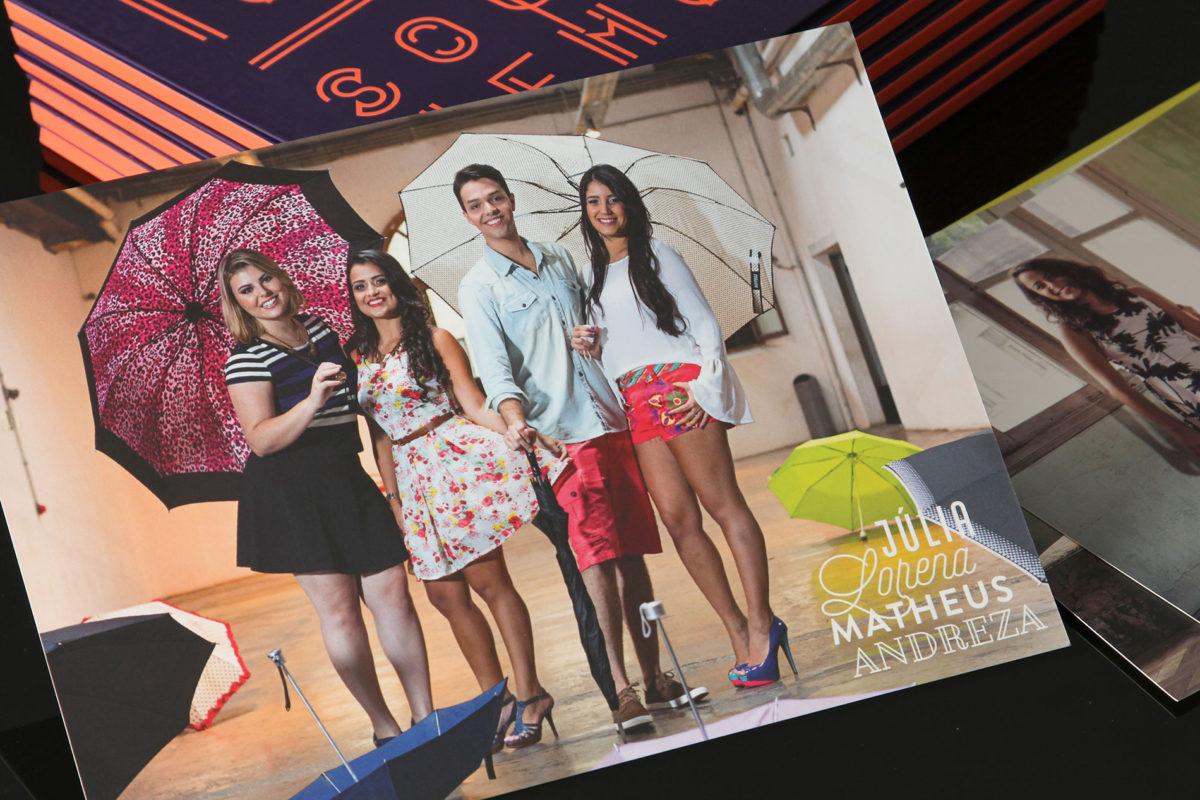 Convite de formatura criativo para turma de Comunicação Social UFMG