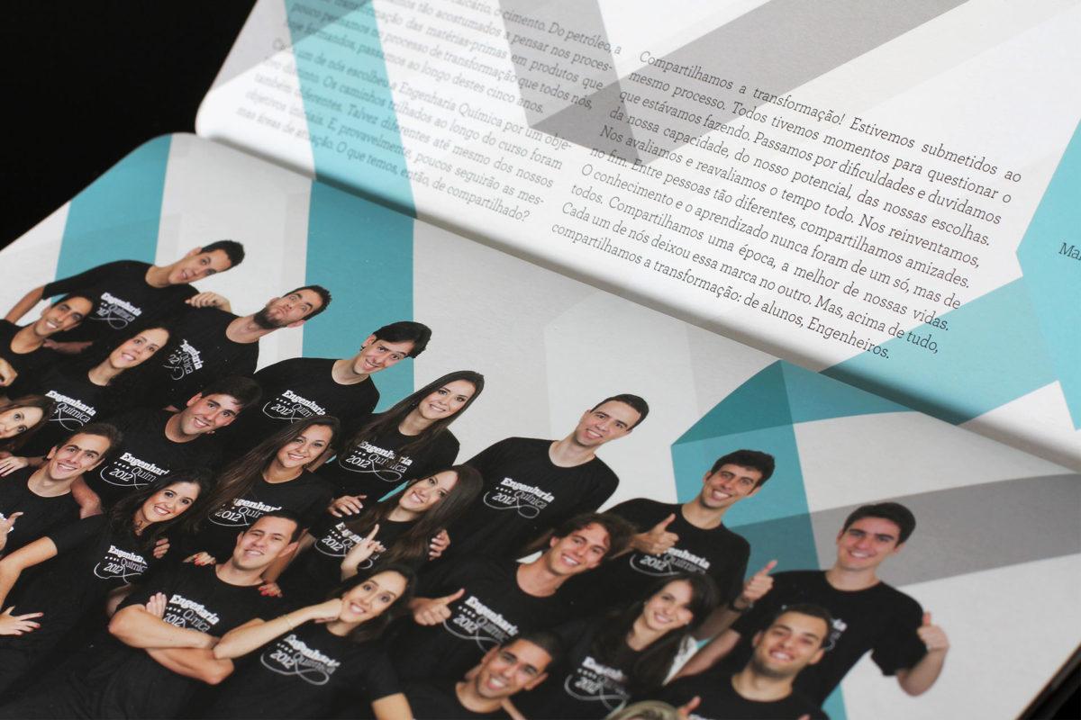 Convite de formatura criativo para turma de Engenharia Química UFMG