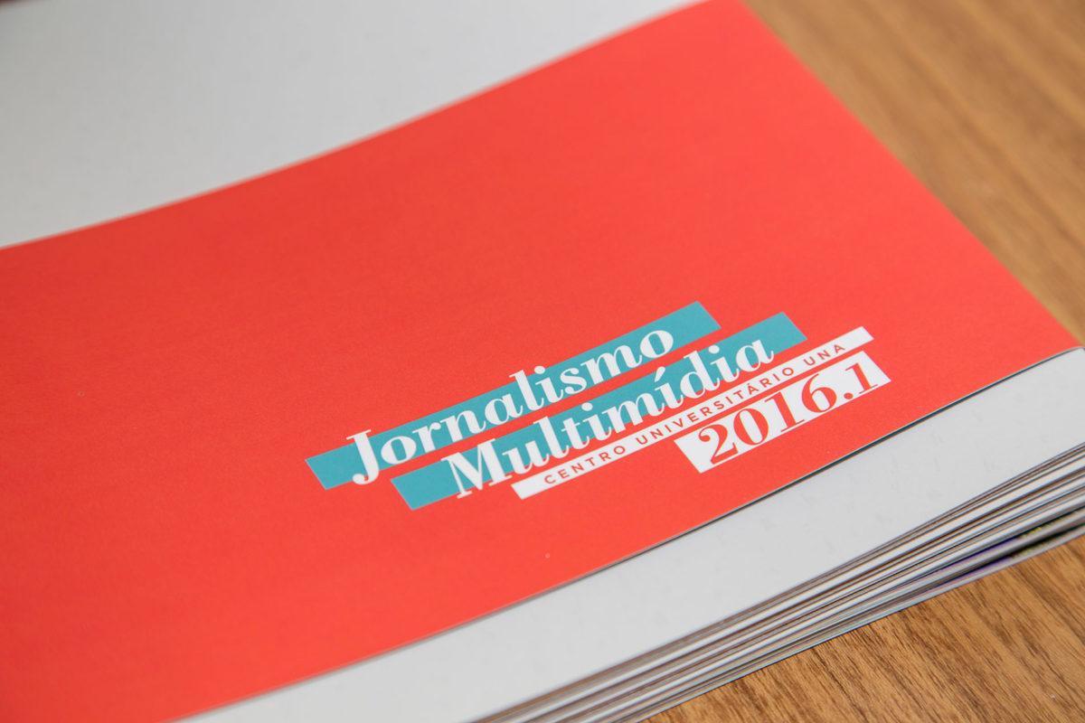 Convite de formatura criativo para turma de Jornalismo UNA